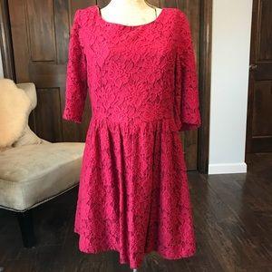 Macy's Kenzie Red Lace Dress, Women's Size M
